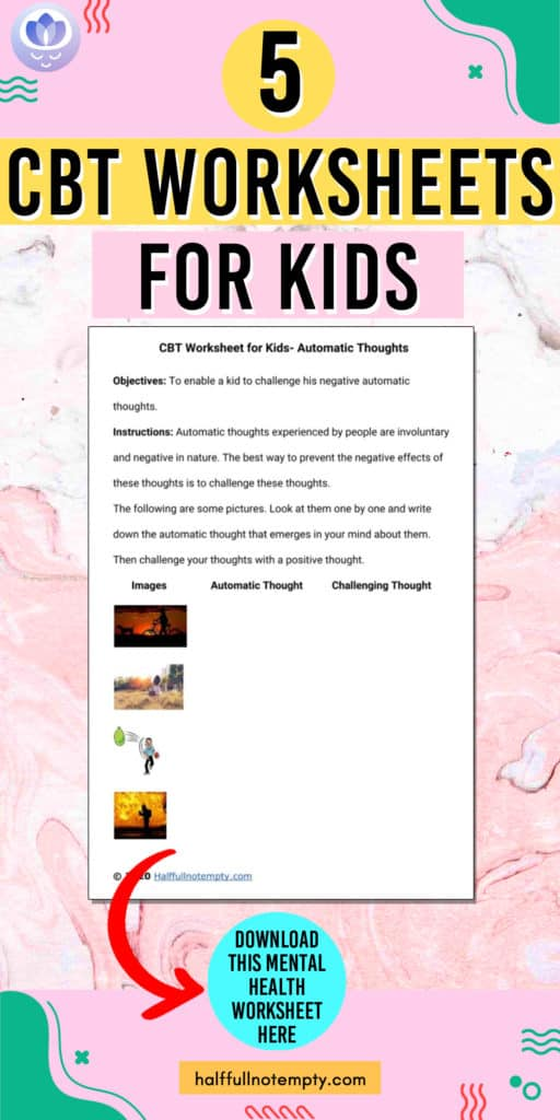 Cbt Worksheets For Kids 9 Optimistminds