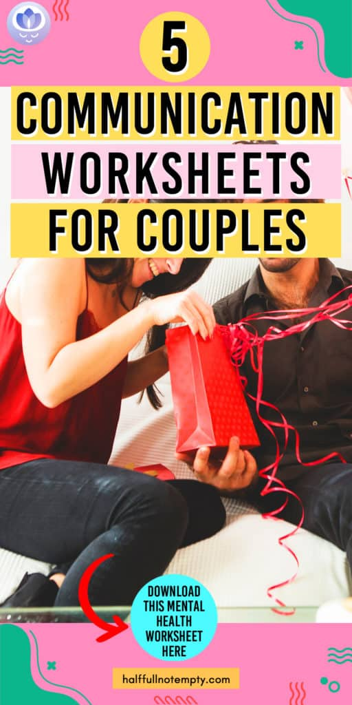 Communication Worksheets for Couples (7+)