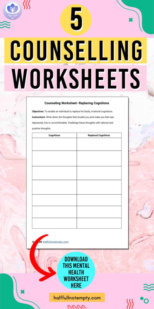 Counseling Worksheets (7+)