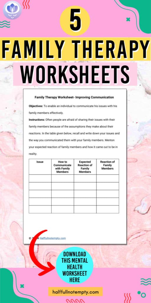 Family Therapy Worksheets (7+)