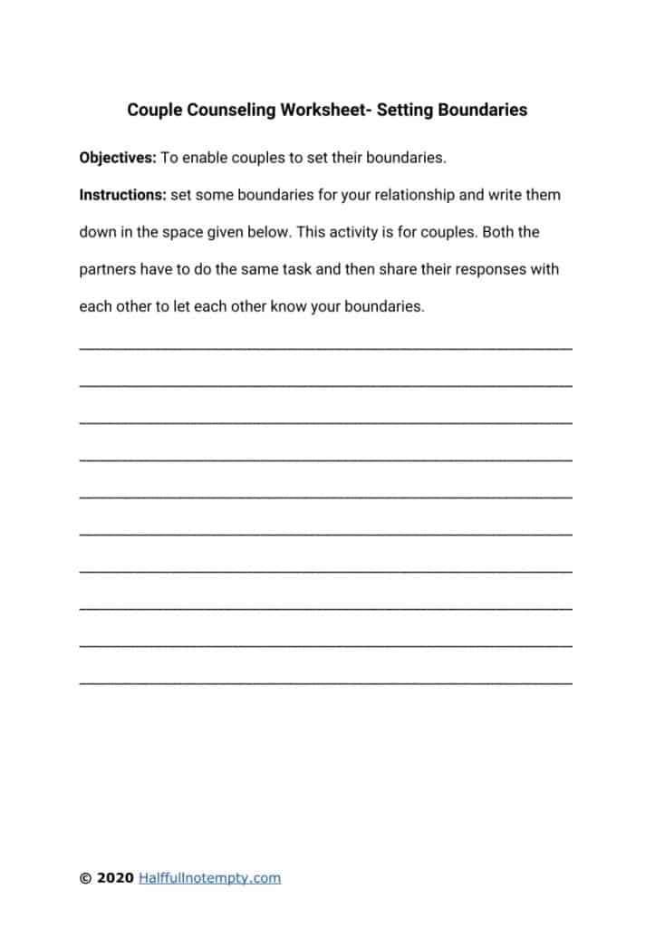Couple Counseling Worksheets (7)