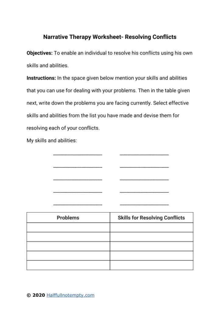 7 Narrative Therapy Worksheets (+ A complete guide)