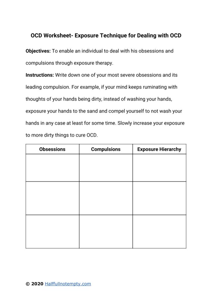 OCD Worksheets (5+)
