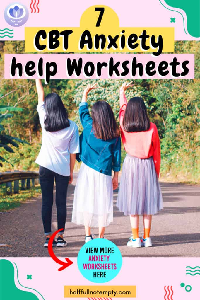 CBT Worksheets for Anxiety (7+)